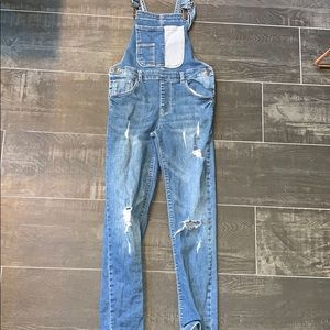 Zara Girls Denim Overalls, Size 8